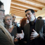 Main opposition party leader Alexis Tsipras with FPA Members